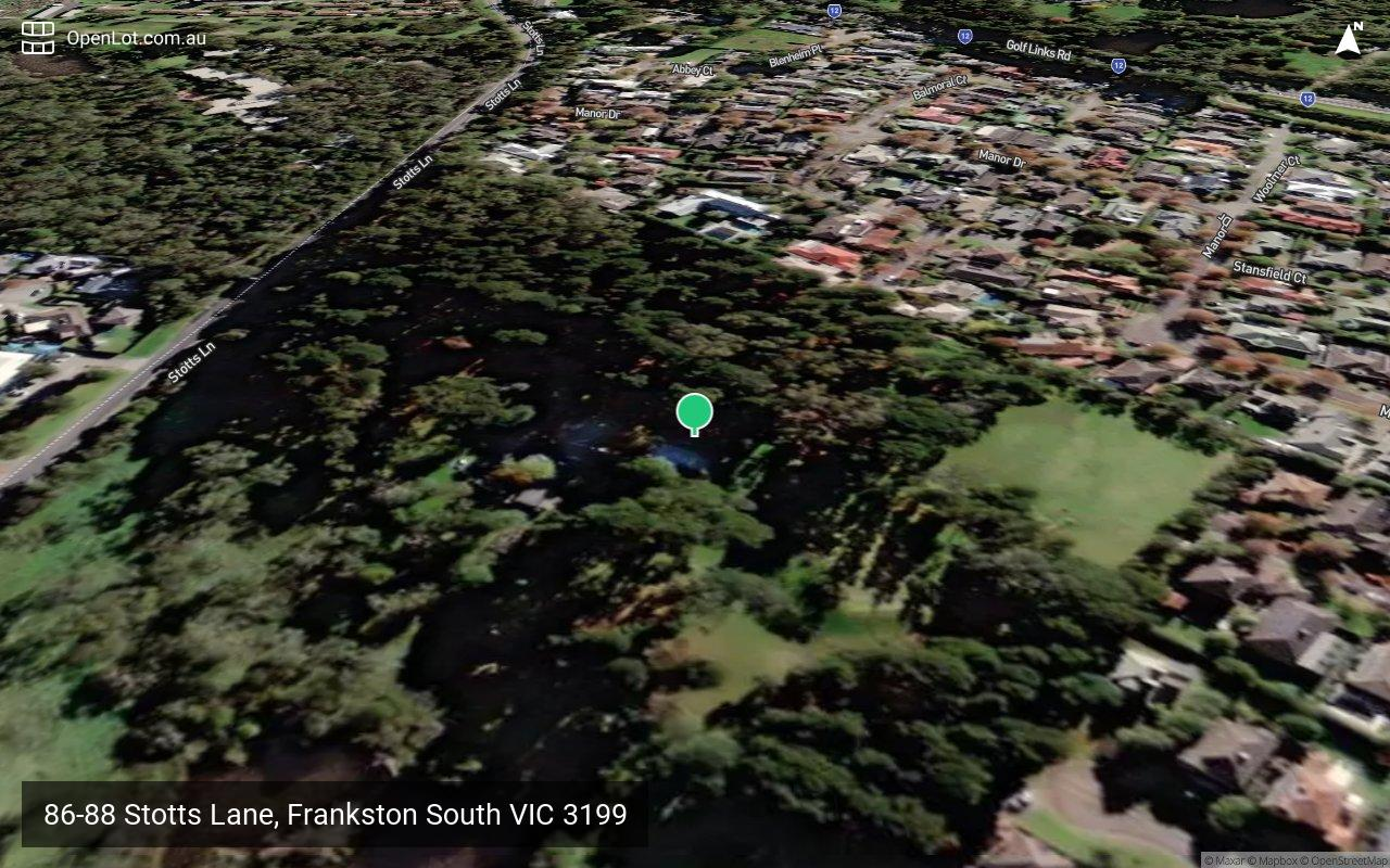 Satellite image for 86-88 Stotts Lane, Frankston South VIC 3199